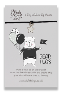 Bear Hugs - Wishstrings Wish Bracelet - Wish Bracelets - Spiffy