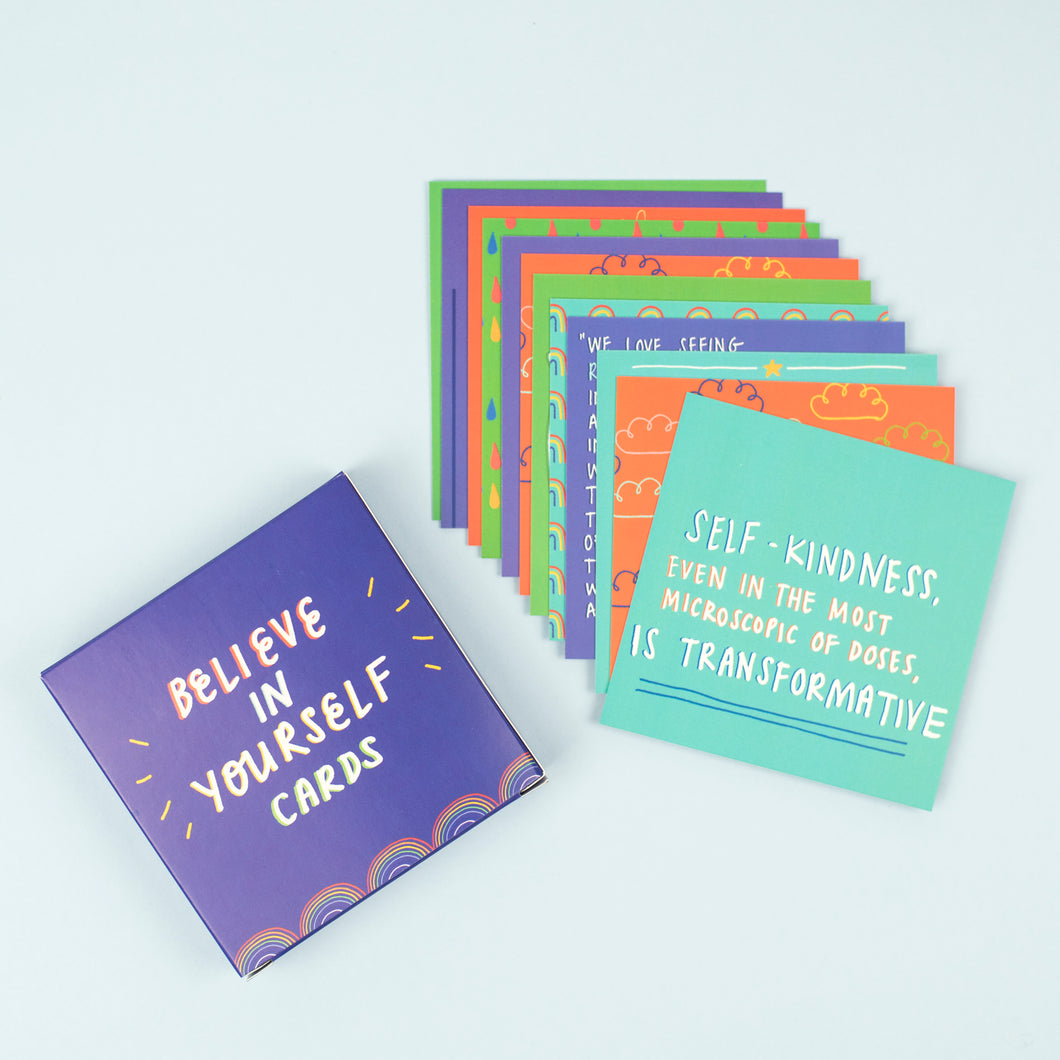 Believe in Yourself Affirmation Cards - Inspirational Message Sets - Spiffy