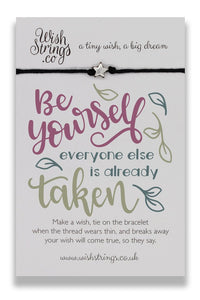 Be Yourself - Wishstrings Wish Bracelet - Wish Bracelets - Spiffy
