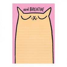 Breathe Cat A5 Notepad by Gemma Correll - Notepads - Spiffy