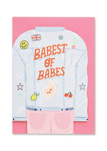 """Babest of Babes"" Greetings Card - Cards - Happy Birthday - Spiffy"