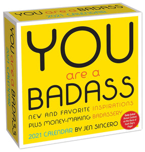 You are a Badass 2021 Day-to-Day Desktop Calendar
