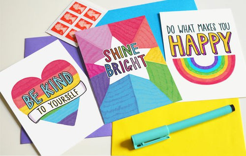 Be Kind to Yourself Postcard Pack - Postcards - Spiffy