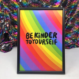 Be Kinder To Yourself A4 Print by Katie Abey - Prints - Spiffy