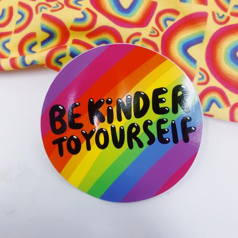 Be Kinder to Yourself Vinyl Sticker by Katie Abey - Spiffy