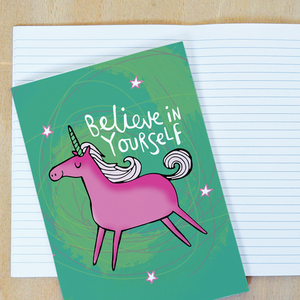 Believe in Yourself A5 Notebook by Katie Abey