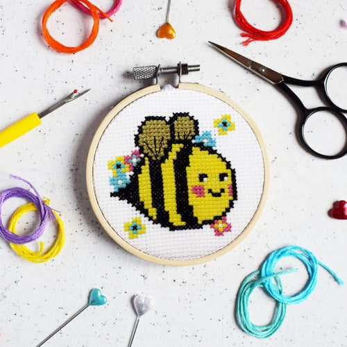 Bella Bee Mini Cross Stitch Kit - Cross Stitch Kits - Spiffy
