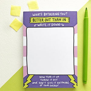 Better Out Than In Notepad by Angela Chick - Notepads - Spiffy