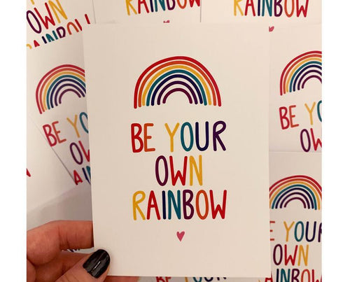 Be Your Own Rainbow A6 Postcard - Spiffy