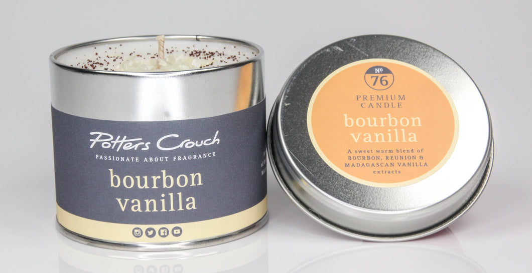 Potters Crouch Bourbon Vanilla Luxury Fragranced Candle Tin - Candles - Spiffy