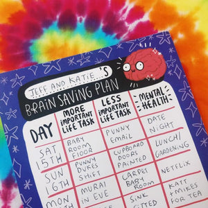 Brain Saving Mental Health Planner by Katie Abey - Planners - Spiffy