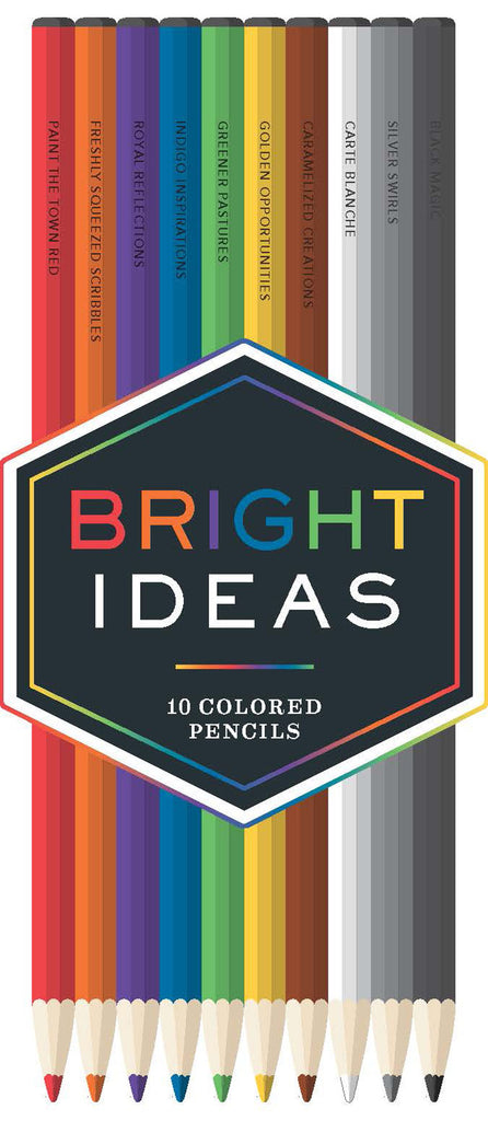 Bright Ideas Coloured Pencils: 10 Coloured Pencil Set - Spiffy