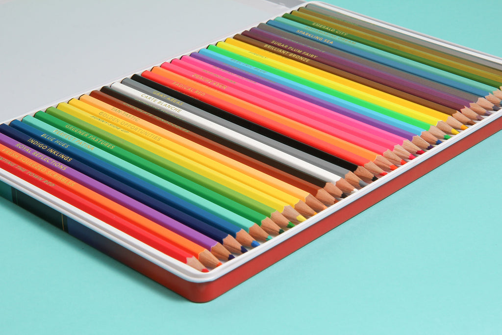 Bright Ideas Deluxe Coloured Pencil Set (36 Coloured Pencils) - Spiffy