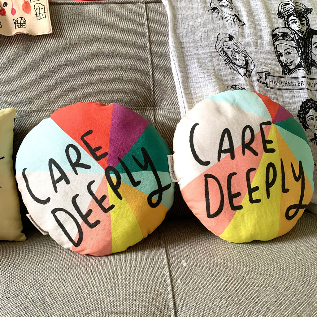 Care Deeply Plushie Cushion - Spiffy
