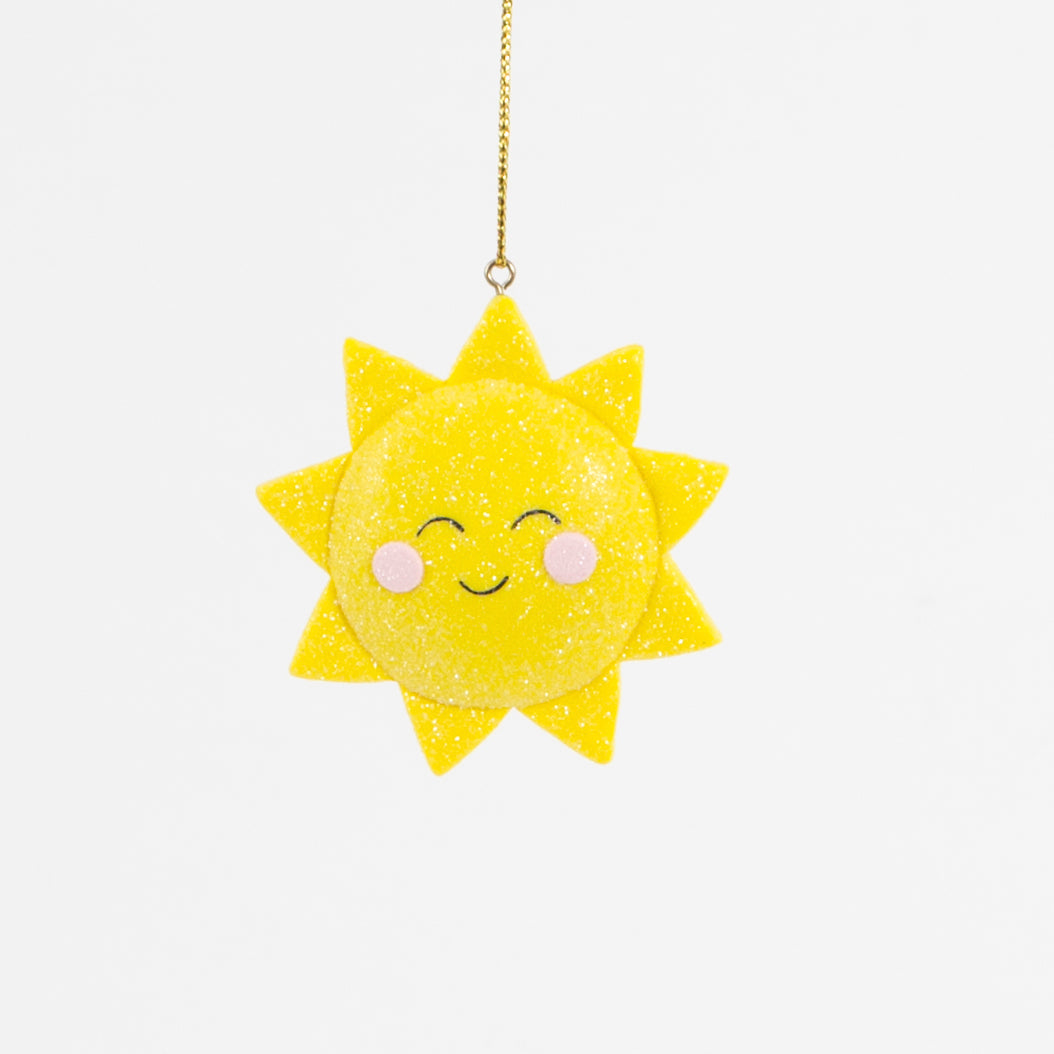 Clay Shimmer Sunshine Hanging Decoration - Christmas Hanging Decorations - Tree - Spiffy