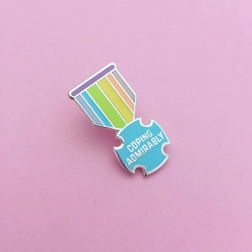 Coping Admirably Enamel Pin