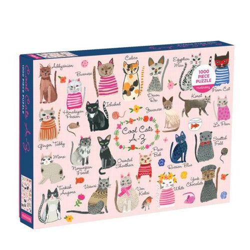 Cool Cats A-Z 1000 Piece Puzzle - Jigsaw Puzzles - Spiffy