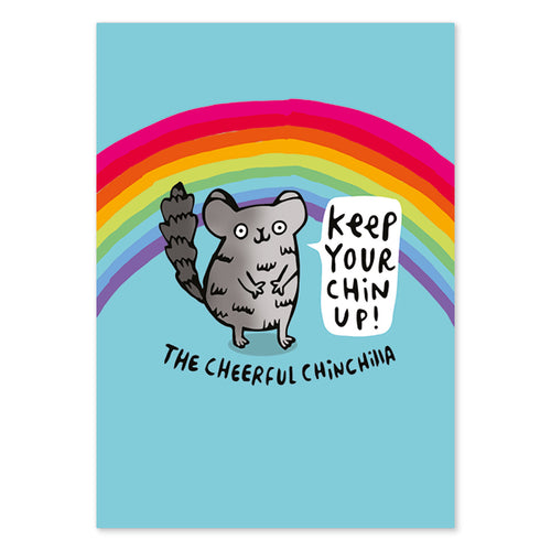 Cheerful Chinchilla Postcard by Katie Abey - Postcards - Spiffy