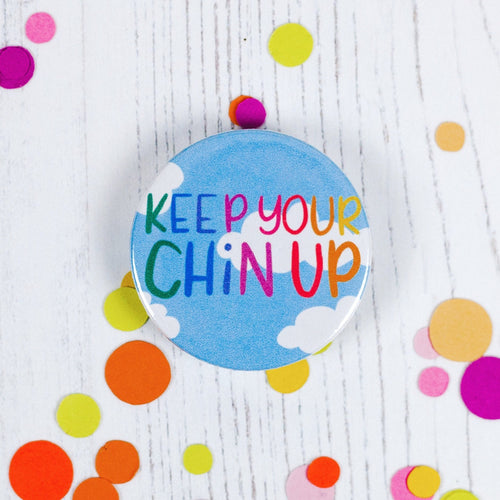 Keep Your Chin Up Pin Badge - Pin Badges - Spiffy