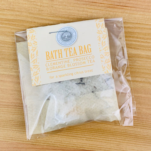 Clementine, Prosecco and Orange Blossom Bath Tea Bag - Christmas Bath Tea Bags - Spiffy
