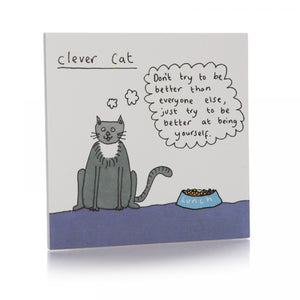 Clever Cat Coaster - Happy Coasters - Spiffy