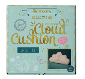 Make Your Own Embroidered Cloud Cushion Craft Kit - Craft Kits - Spiffy