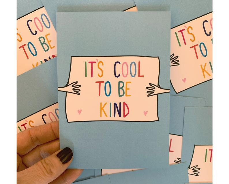 It's Cool To Be Kind A6 Postcard - Postcards - Spiffy