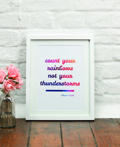 Count Your Rainbows A3 Print - Spiffy