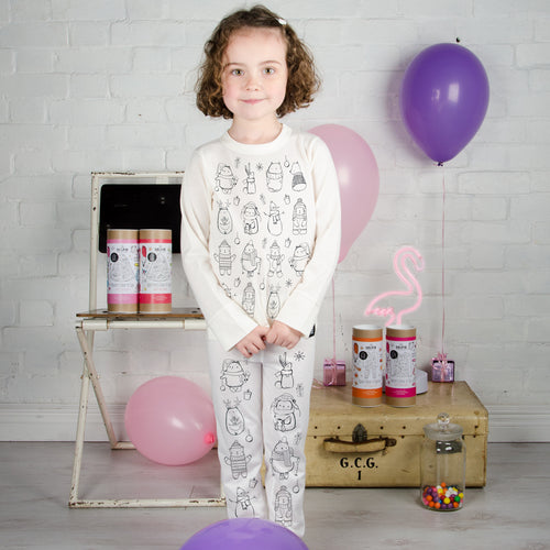 Cutesy Christmas Colour-In Top Gift Set - Children's Clothing - Spiffy