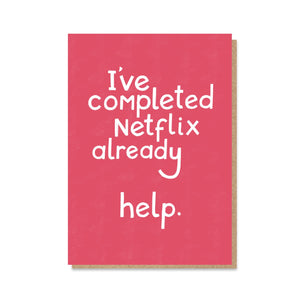 Completed Netflix - Social Distancing Card - Cards - From a Distance - Spiffy