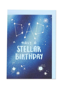 """Dad - Have a Stellar Birthday"" Birthday Card - Cards - Happy Birthday - Spiffy"