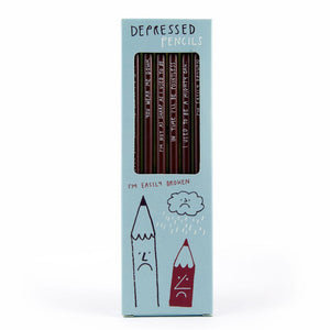 Depressed Pencil Set - Affirmation Pencils - Spiffy