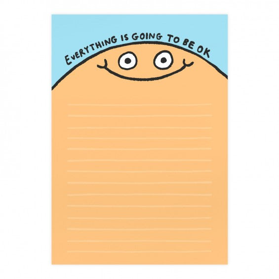 Everything Is Going To Be Ok A5 Notepad by Gemma Correll - Notepads - Spiffy
