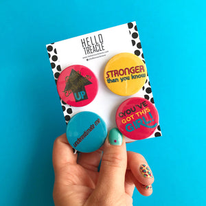 Empowerment Badge Pack - Pin Badges - Spiffy