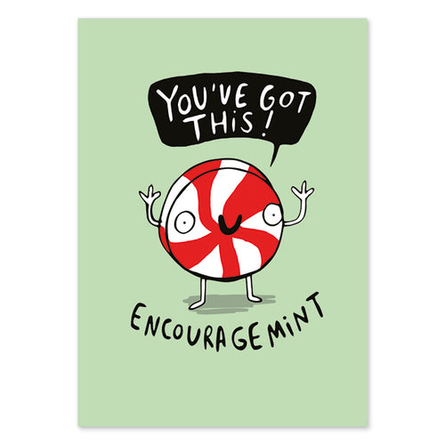 Encouragemint Postcard by Katie Abey