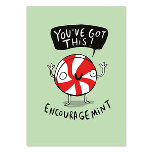 Encouragemint Postcard by Katie Abey - Postcards - Spiffy