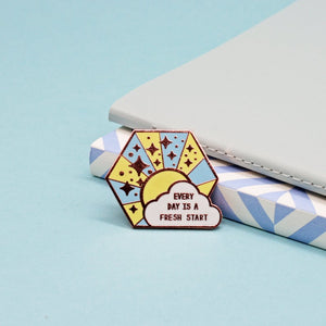 Every Day Is A Fresh Start Enamel Pin by Jess Rachel Sharp