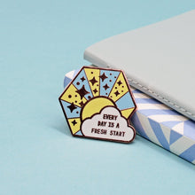 Every Day Is A Fresh Start Enamel Pin by Jess Rachel Sharp - Enamel Pins - Spiffy