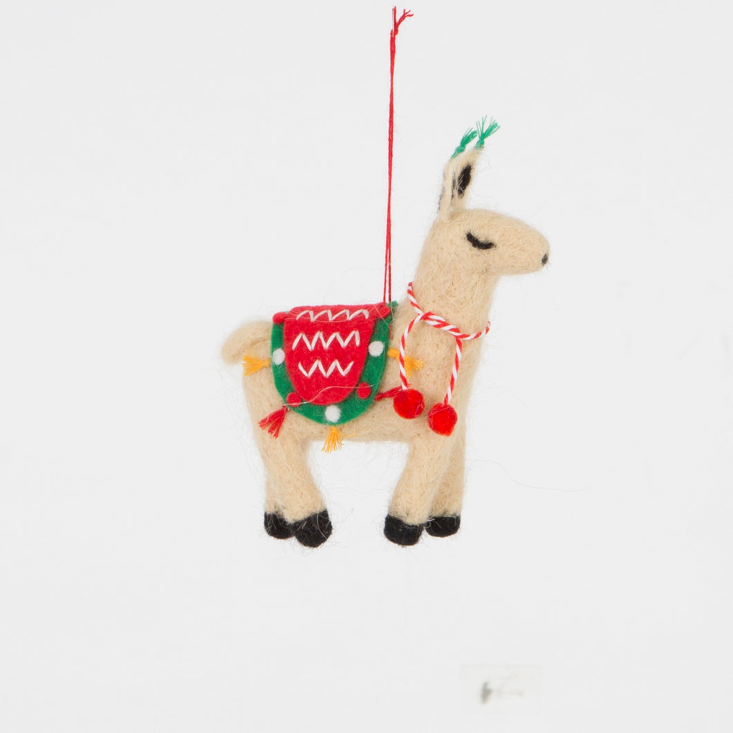Fa La La Llama Hanging Felt Decoration - Christmas Hanging Decorations - Tree - Spiffy