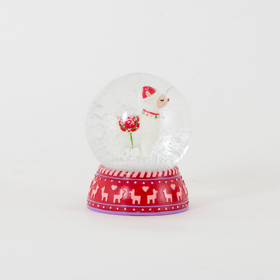 Fa La La Llama Snow Globe Decoration