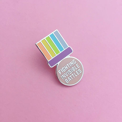 Fighting Invisible Battles Enamel Pin
