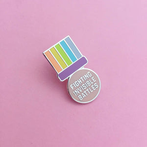 Fighting Invisible Battles Enamel Pin - Enamel Pins - Spiffy