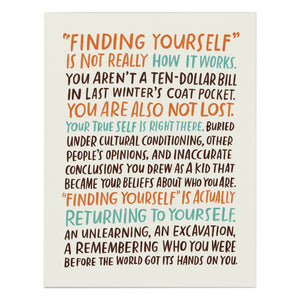 Finding Yourself Greeting Card - Spiffy