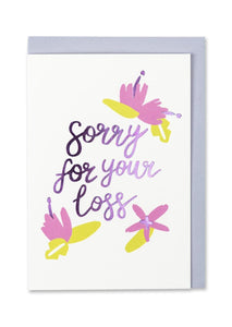 """Sorry For Your Loss"" Sympathy Card - Cards - Sympathy - Spiffy"