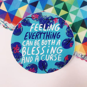 Feeling Everything Vinyl Sticker by Katie Abey