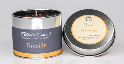 Potters Crouch Fireside Luxury Fragranced Candle Tin - Candles - Spiffy