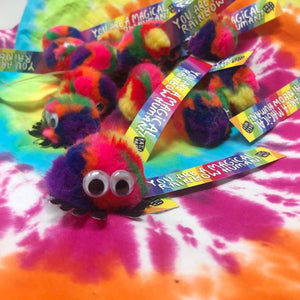 You're A Magical Human Being Fluffy Rainbow Mascot by Katie Abey - Postcards - Spiffy