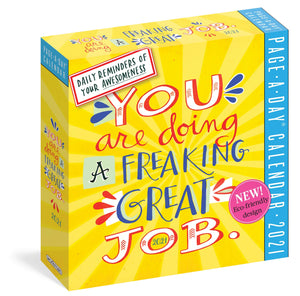 You Are Doing a Freaking Great Job Page-A-Day Desktop Calendar 2021