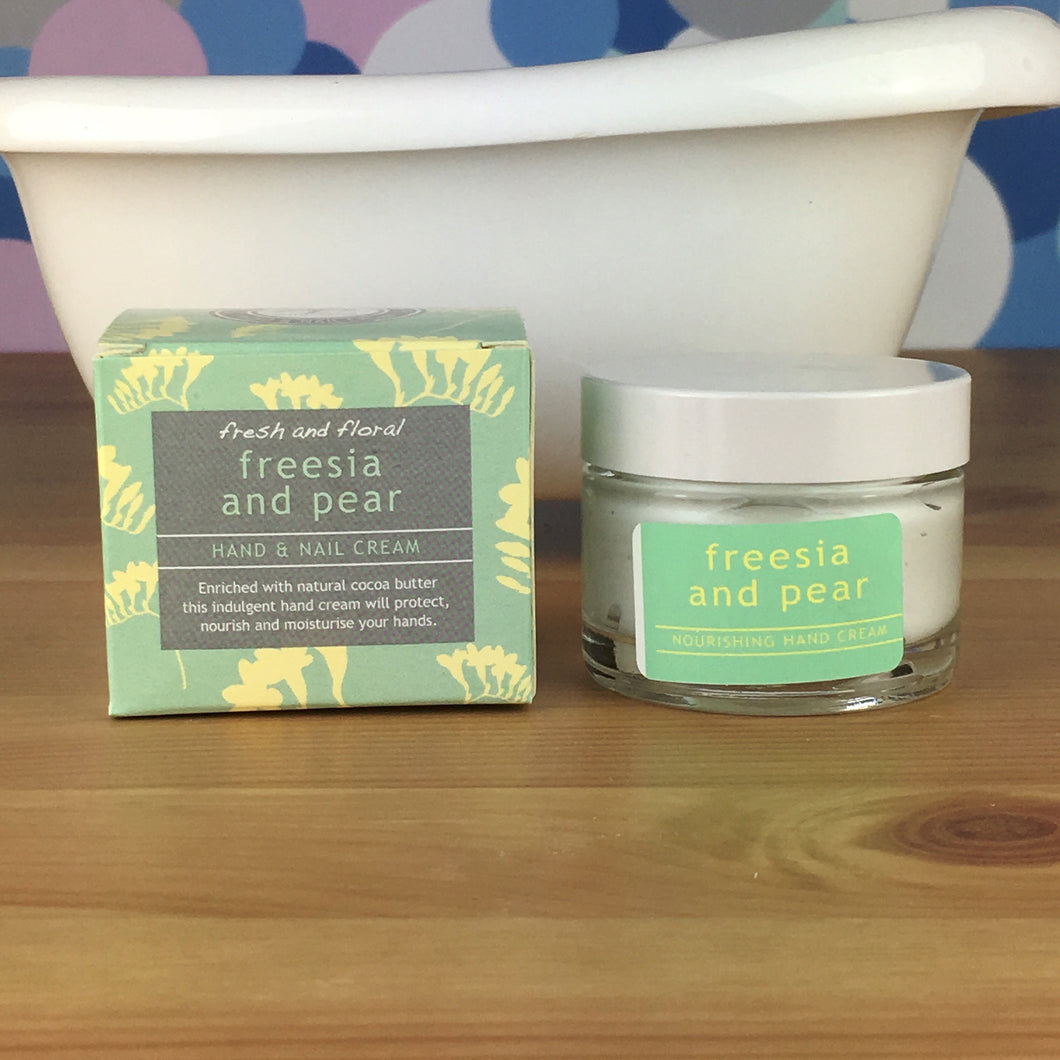 Freesia and Pear Hand and Nail Cream by Wild Olive - Hand Cream - Spiffy