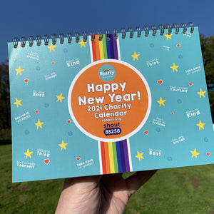 Spiffy's Happy New Year 2021 A5 Desktop Calendar